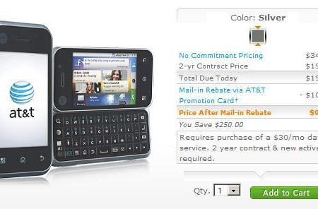 Motorola Backflip now on sale at AT&T