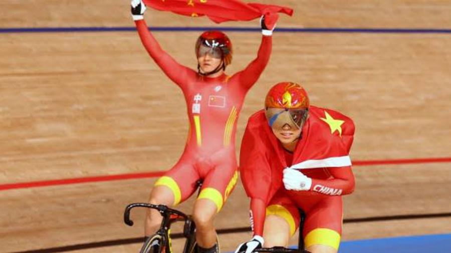 JO - Cyclisme sur piste (F) - La Chine conserve son titre en vitesse par équipes féminine aux JO de Tokyo