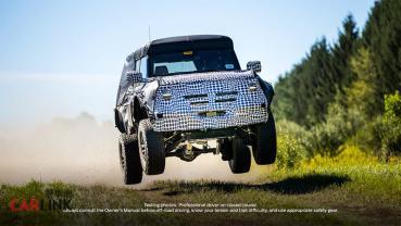"""偽裝測試車「起飛」!Ford預告Bronco""""終極版""""即將問世?"""