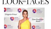 Look des Tages: Selena Gomez in gelbem One-Shoulder-Kleid