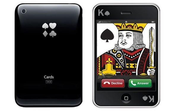 iPhone playing cards use washable PVC touchscreen technology