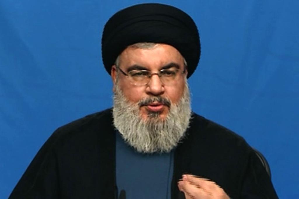 A grab from Hezbollah's Al-Manar television channel on November 5, 2017 of Hezbollah chief Hassan Nasrallah