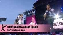 Coldplay's Chris Martin serenades Ariana Grande at One Love Manchester