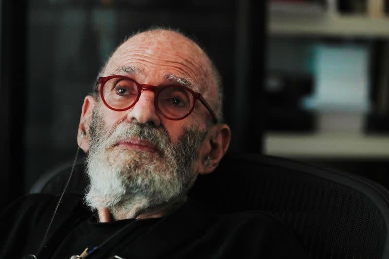 AIDS activist and author Larry Kramer poses for a portrait in his apartment in New York