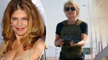 Terminator star, 63, made to wear breast and bum padding