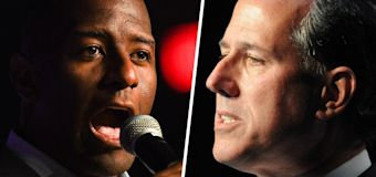 Gillum rips Santorum's 'ridiculous' stance on guns