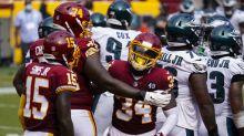 Washington gets 8 sacks, rallies for 27-17 win over Eagles