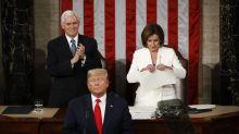 Watch: Pelosi tears Trump State of the Union speech in half