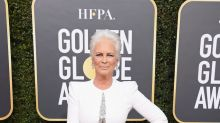 Jamie Lee Curtis hits Golden Globes red carpet with icy-white hair: 'A platinum dream'