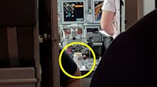 Budget airline passenger stunned to spot can of Stella Artois in cockpit
