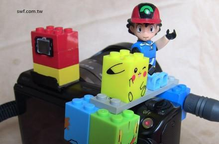 Lego shutter release for Sony NEX-5 lets Pikachu take your pictures