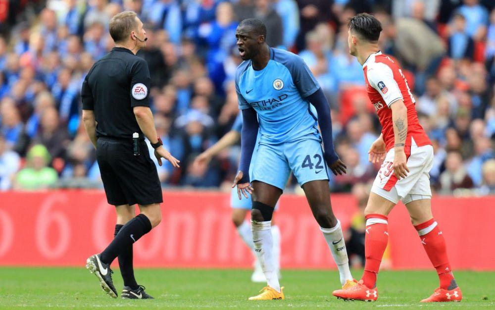 Yaya Toure was enraged on Sunday - Rex Features