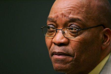 File photo of South African President Jacob Zuma listening at a news conference in Cape Town