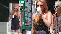 Lindsay Lohan Out and About in New York City