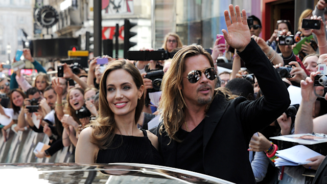 Brad Pitt and Angelina Jolie at World War Z Premiere