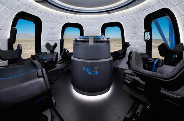 Blue Origin offers a look inside its tourist rocket's capsule