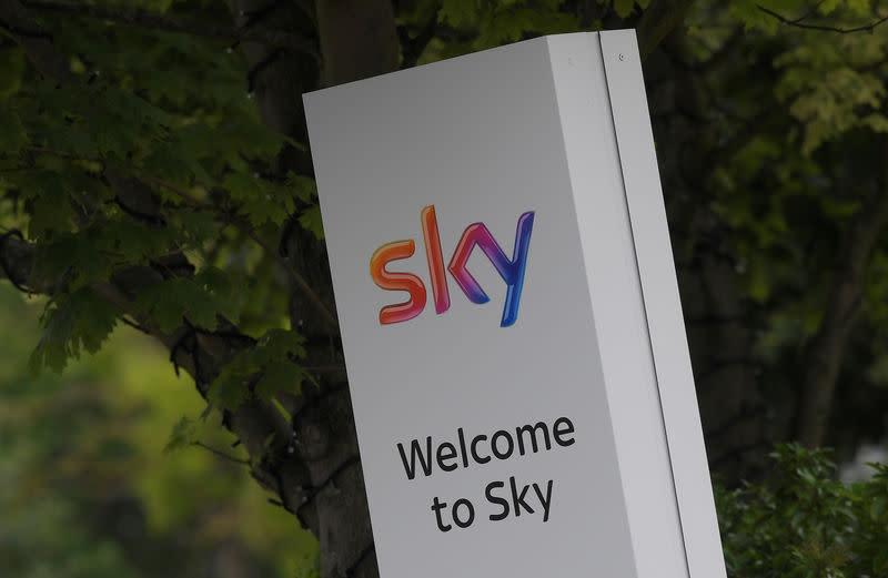 Sky News logo is seen in west London