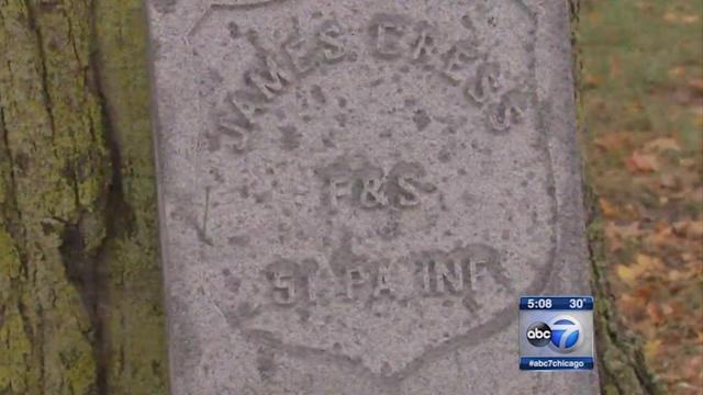 Boy Scout helps Civil War vet get headstone at Wheaton Cemetery