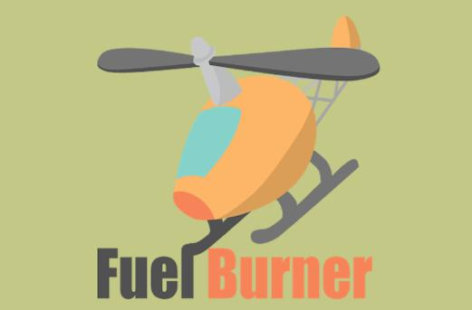 Fuel Burner hovers and lands