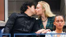 Sophie Turner Kisses Joe Jonas, Hilariously Fakes Baby Bump at 2018 U.S. Open