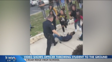 A police officer was caught on video throwing a student to the ground