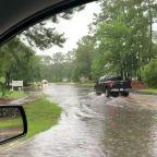 Tropical Storm Bertha Floods Mount Pleasant Roads