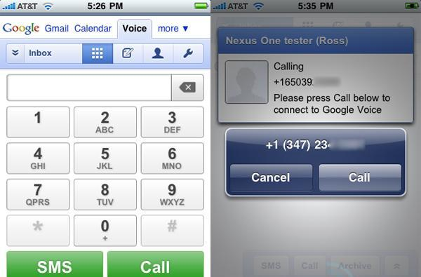 Google Voice comes to iPhone and webOS, as a web app