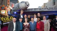 'Solo' premiere features life-size Millennium Falcon, a galaxy of 'Star Wars' stars, and really strong buzz