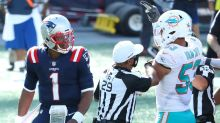 Cam Newton gets into heated scuffle with Dolphins after Patriots' win