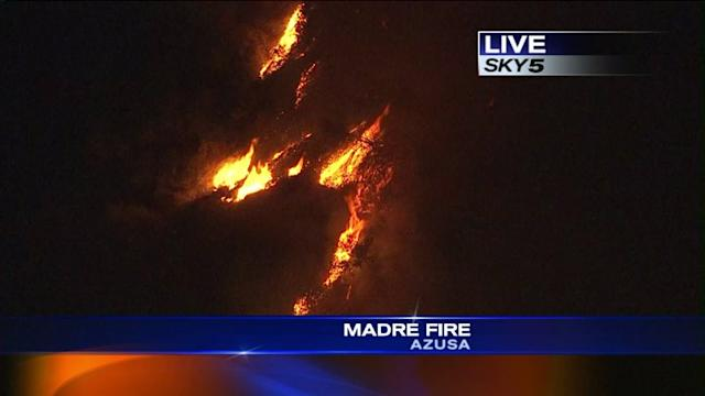 Officials: Madre Fire Burns 190 Acres
