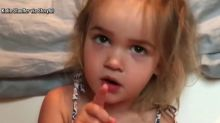 Toddler gives hilarious rant about airport security