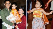 Dhoni Attends Poorna Patel's Sangeet, Ziva Steals the Limelight