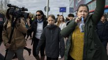 A Madrid, une marche pour le climat avec Greta Thunberg, avant la COP25