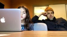 Max Greenfield is homeschooling his daughter and it's not going well