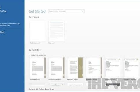 Microsoft Office 15 revealed, simpler UI with touch-friendly features