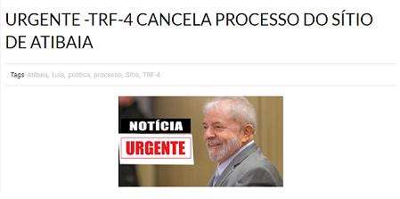 #Verificamos: É falso que TRF-4 cancelou processo contra Lula no caso do sítio de Atibaia - Yahoo Noticias Brasil