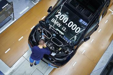 BMW i3純電動都會小車欲罷不能,到本周累計生產超越20萬台