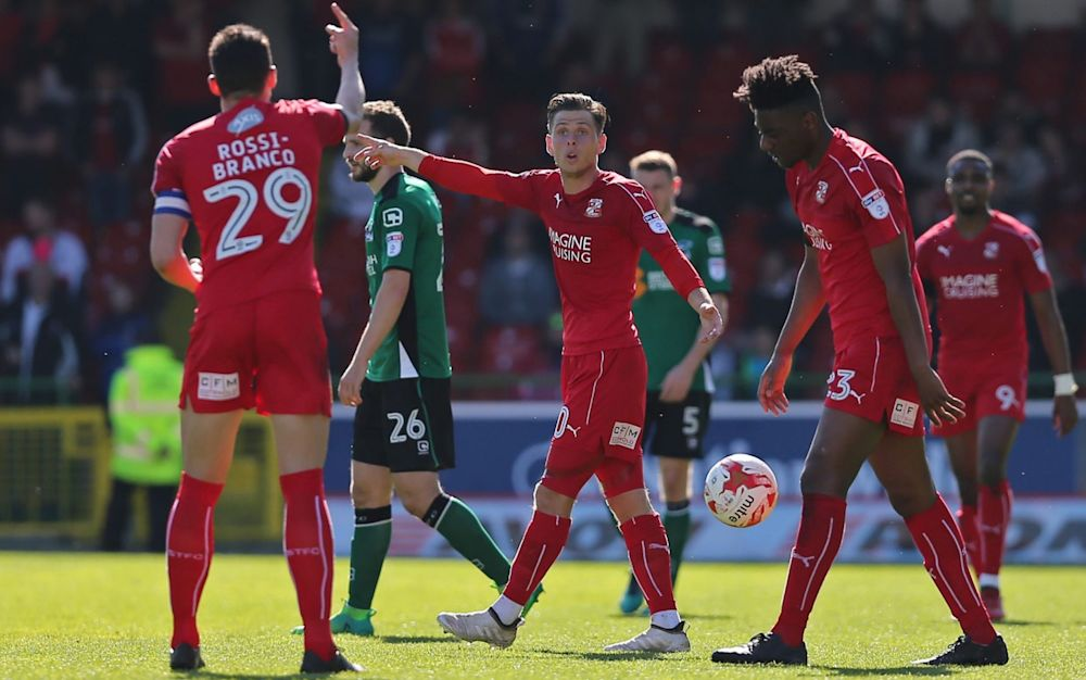 Swindon were relegated with defeat to Scunthorpe on Saturday - but they didn't want to broadcast that fact - Rex Features