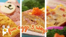 Fun Eggs 3 Ways