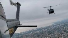 Coronavirus en Argentina: el impresionante vuelo de los helicópteros del Ejército durante la cuarentena