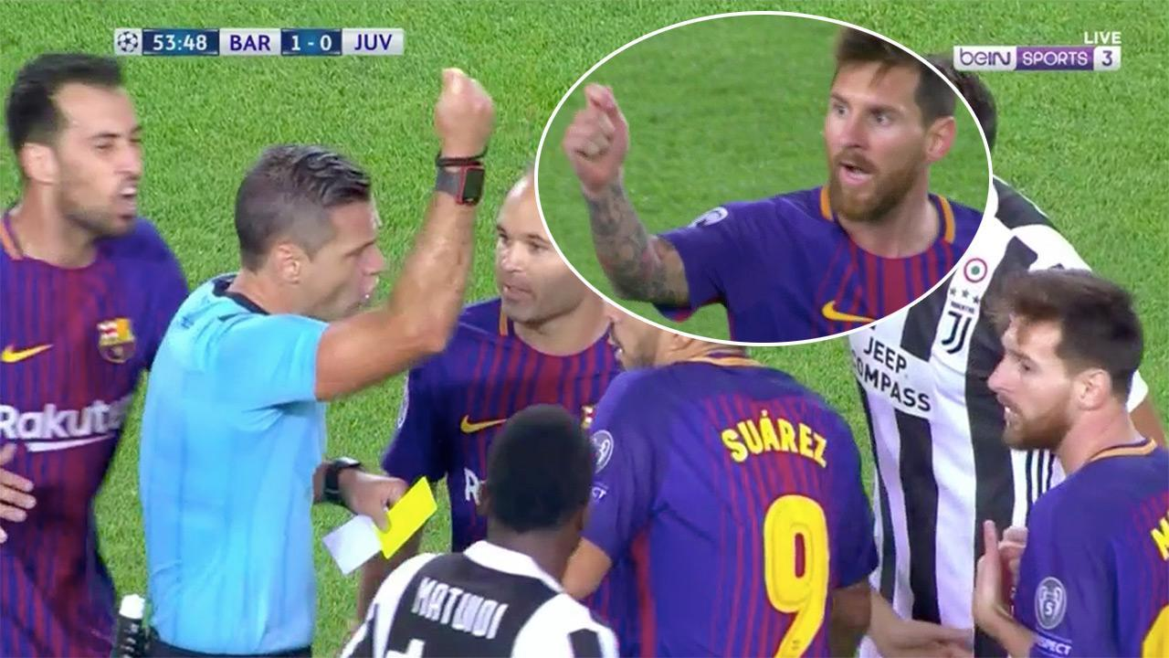 Barca star Messi cops the card he asked for