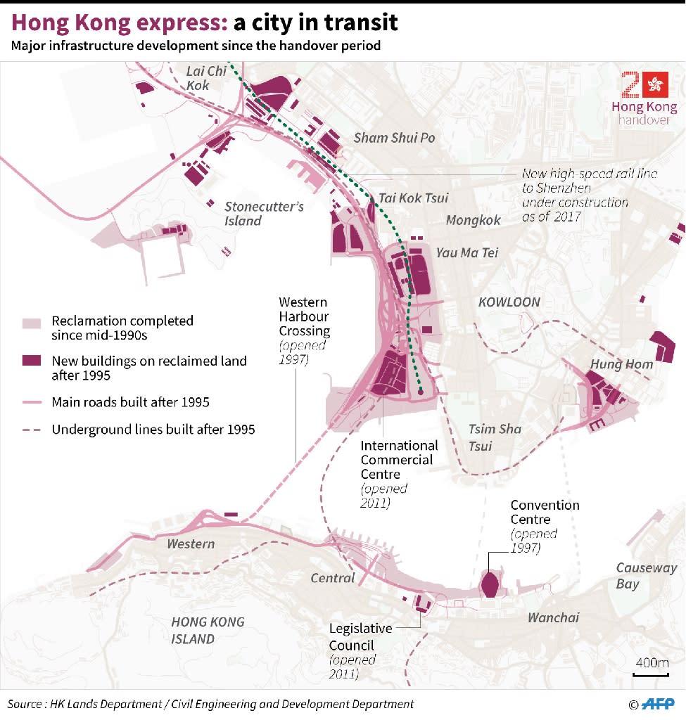 Hong Kong express: a city in transit (AFP Photo/Laurence CHU )