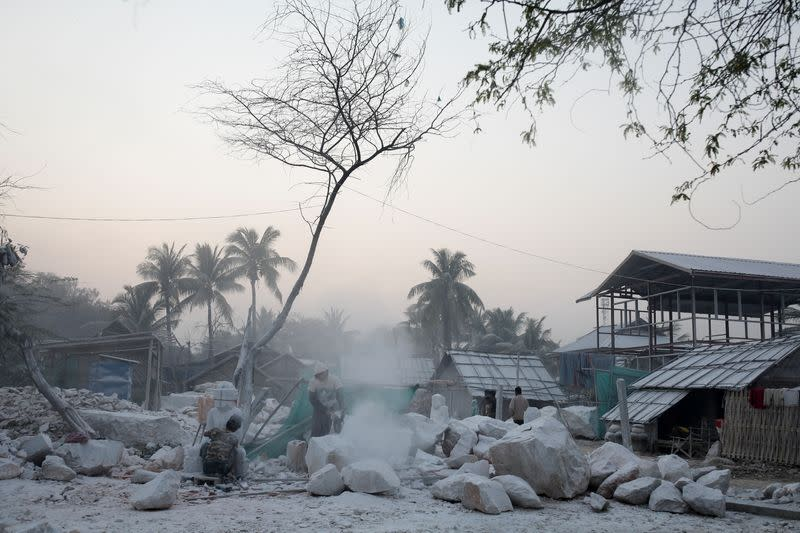The Wider Image: From statues to toothpaste, the Myanmar village 'blessed' with marble bounty