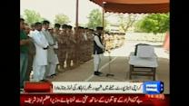 Funeral held for soldier killed in Karachi airport attack