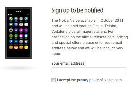 Nokia N9 coming to Australia in October on three carriers