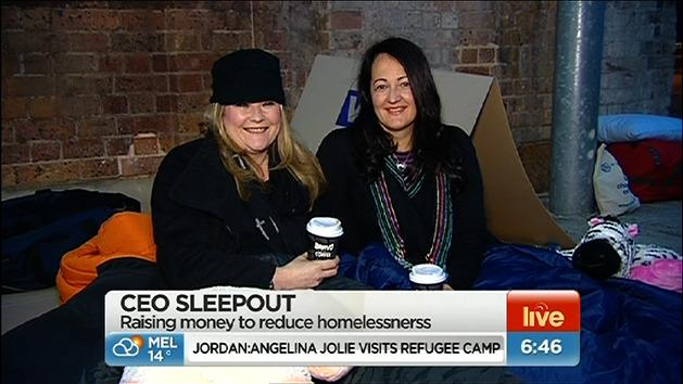 CEOs sleepout on the streets