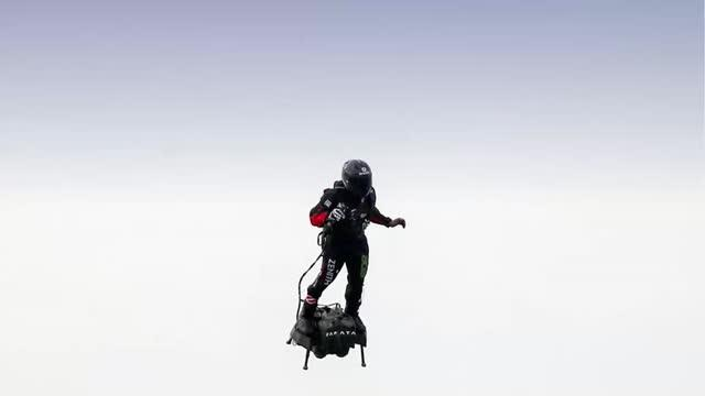 French inventor successfully soars over English Channel on hoverboard