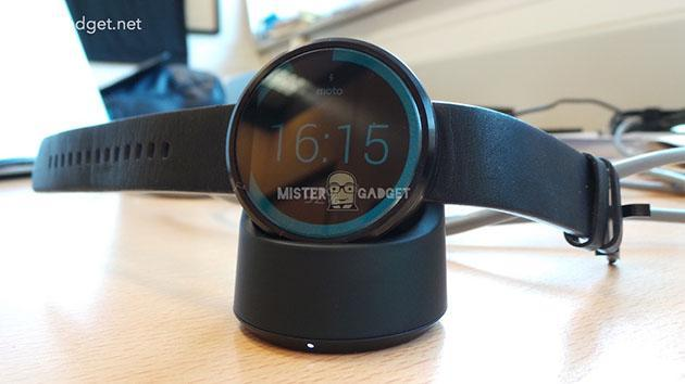 The Moto 360 will work with this stylish wireless charger