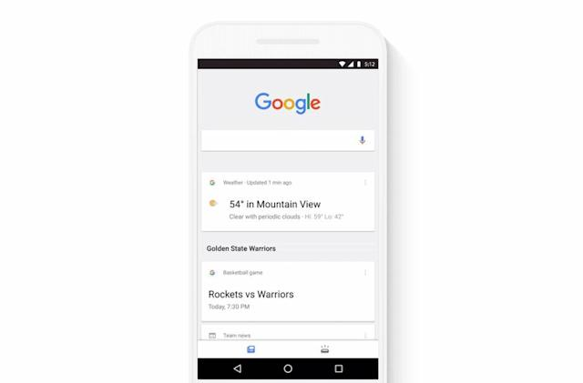 Google's mobile app gets a streamlined news feed