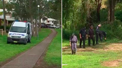Manhunt after schoolgirl dragged into bush